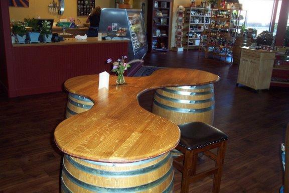 Pdf diy wine barrel creations download wine display rack for How to make a wine barrel bar