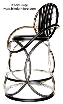recycled bike barstool