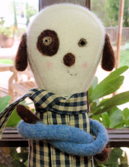 boy doll made from recycled fabric