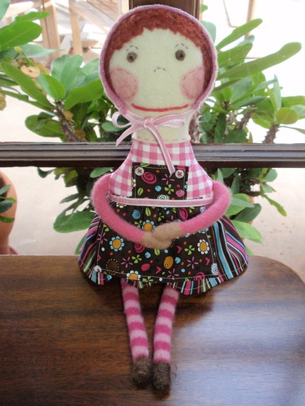doll made from recycled cloth