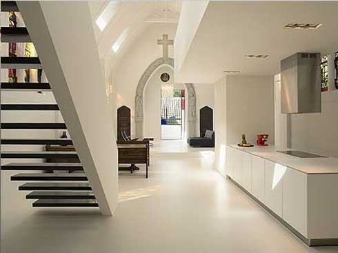 chapel converted into modern apartment