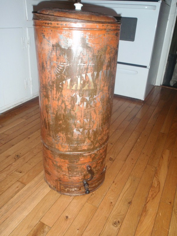 antique Flour Sifter Trashcan
