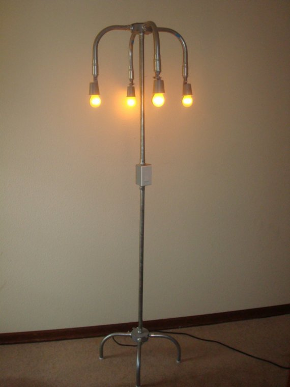 industrial floor lamp by griffin lamps. Black Bedroom Furniture Sets. Home Design Ideas