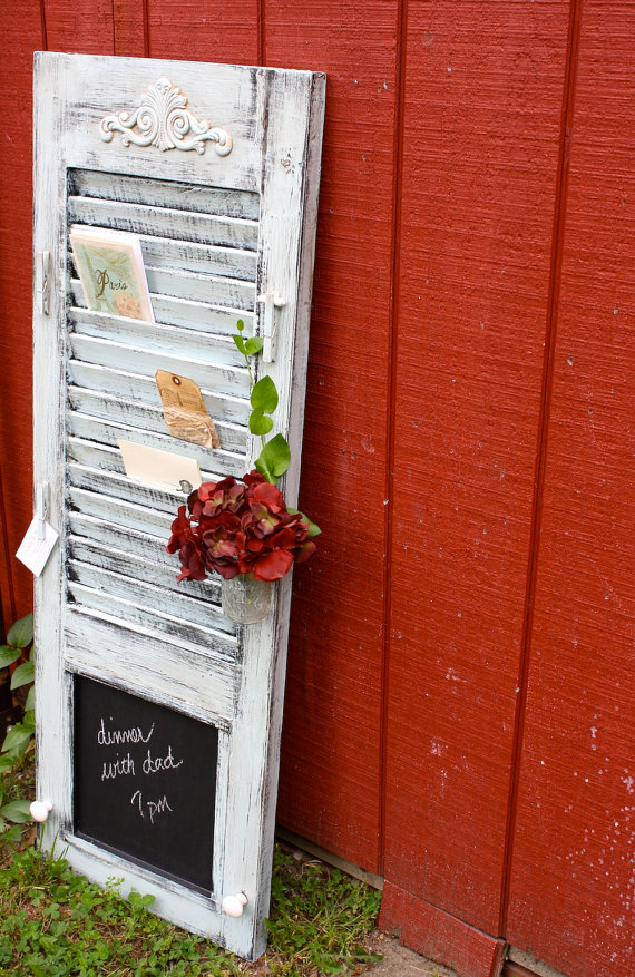 follow your heart woodworking shutter repurposed into